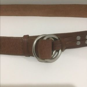 Men's polo belt circle ring buckle